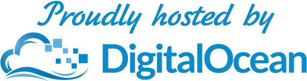 Proudly Hosted by Digital Ocean