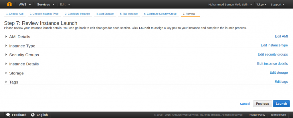 Launch an Amazon EC2 Instance