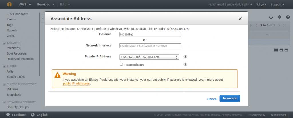 Associate IP Address with EC2 Instance