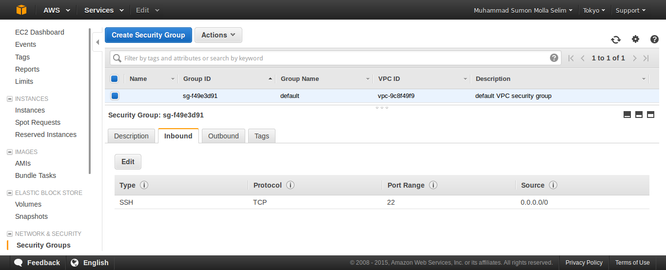 how to change security group of an ec2 instance